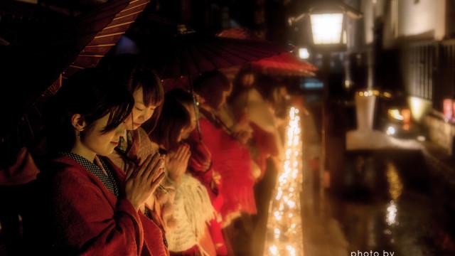 2015.01.15 雨と雪と傘の情景~古川 三寺参り
